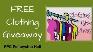 Free Clothing Giveaway, First Presbyterian Church, Phoenixville, PA