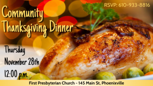 Community Thanksgiving Dinner Phoenixville PA