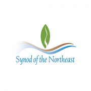 pc(usa) synod of the northeast logo on a white background