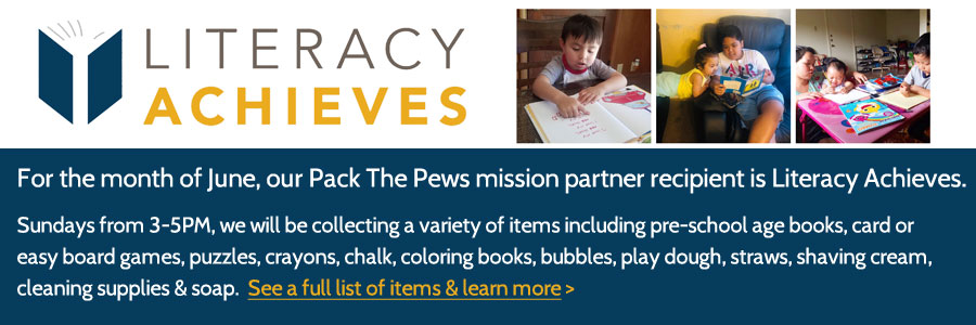 Pack The Pews - Literacy Achieves
