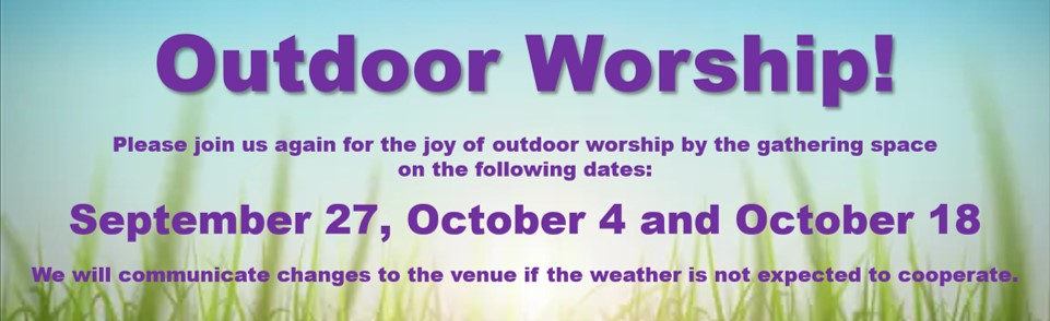 Outdoor Worship Fall 2020