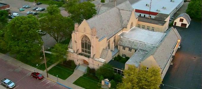 church-aerial