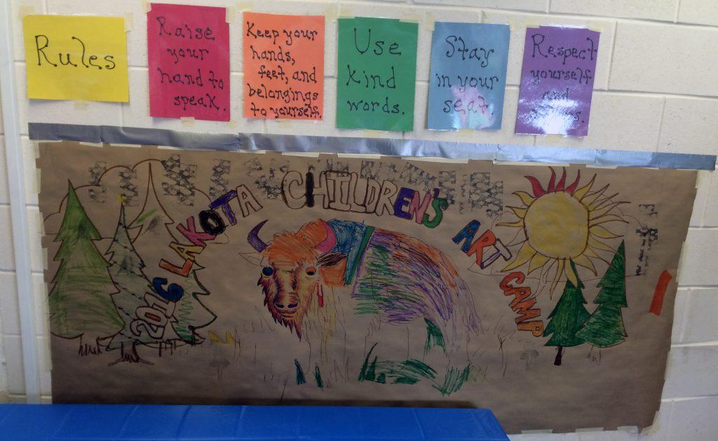 Lakota Sioux Children's Art Camp