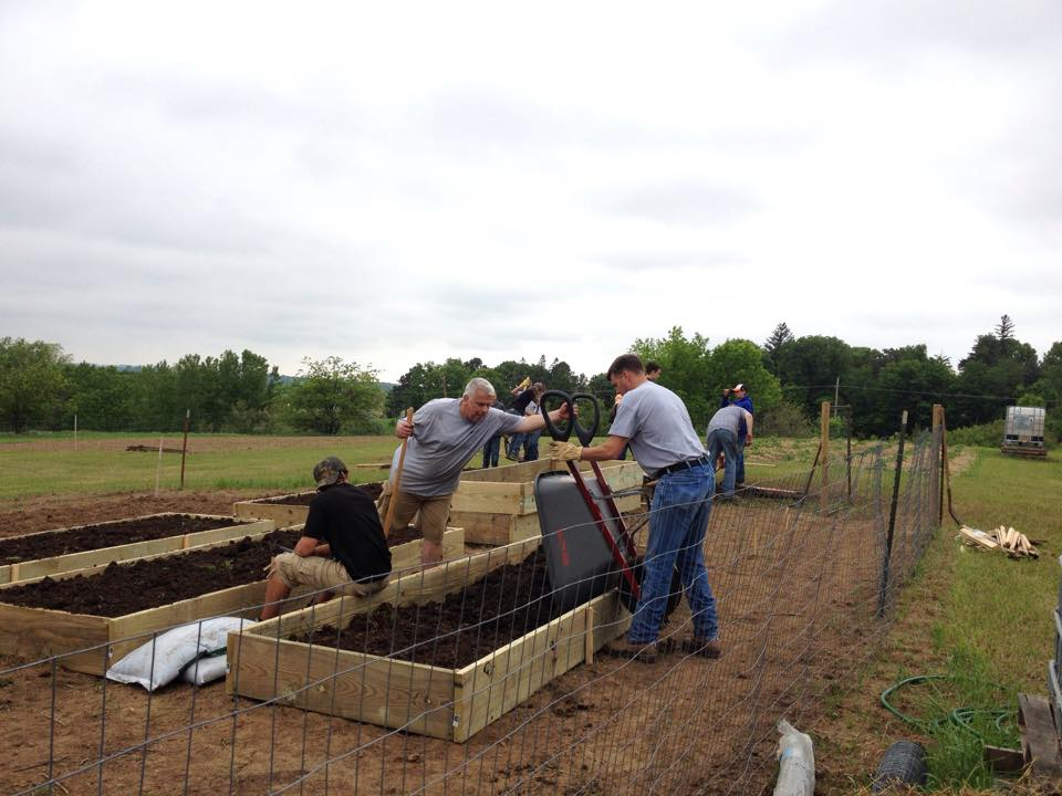 community garden rasied beds