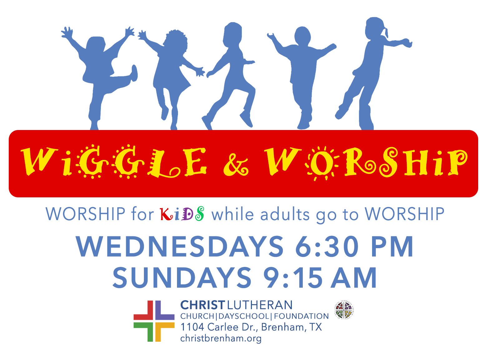 CLC Wiggle Worship Wednesdays-Sundays NEW