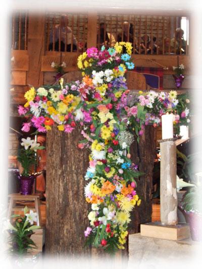 Easter Living Cross