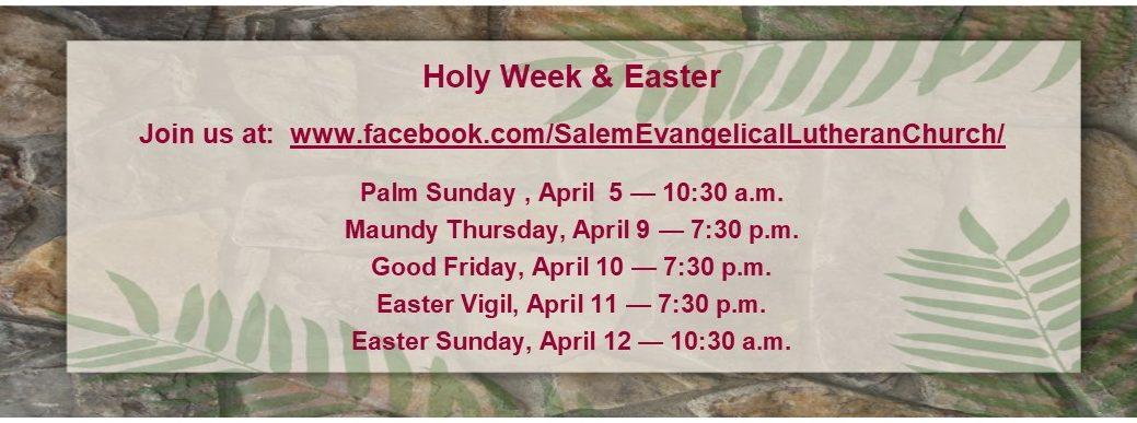 Holy Week 2020 Banner