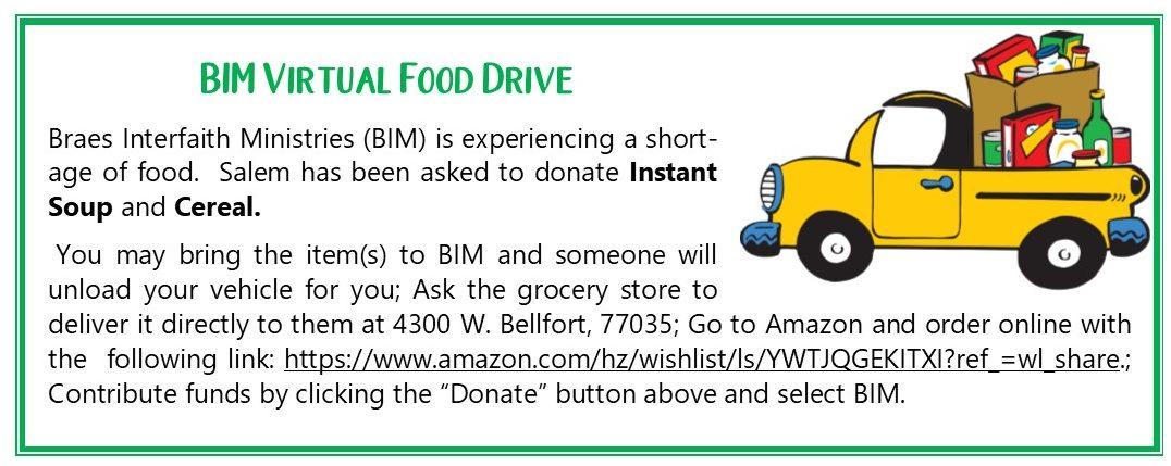 BIm Virtual Food Drive