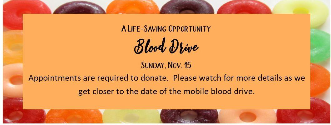 Blood Drive Nov 20