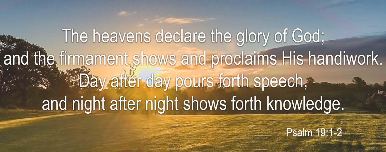 psalm 19 1 -2