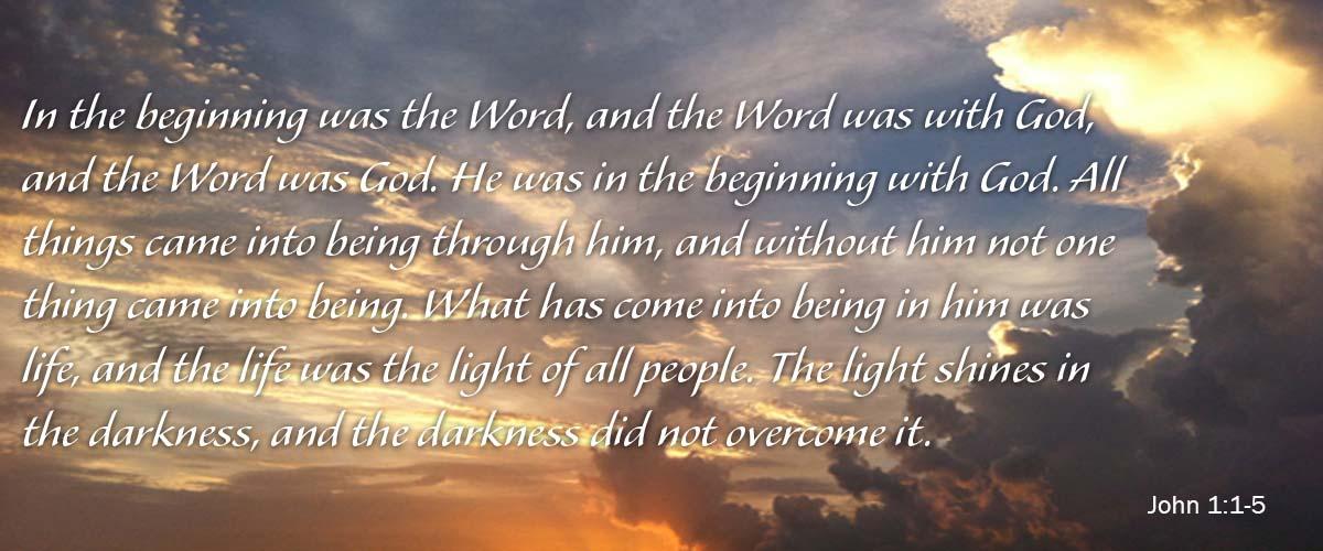 John 1 1-5 beginning